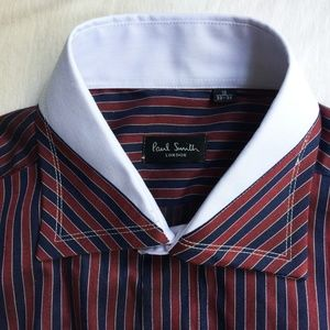 Paul Smith London Men's Shirt 16 33-34 Blue Red